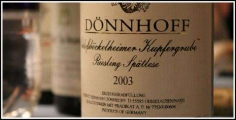 2003 Dönnhoff, Schloßböckelheimer Kupfergrube, Riesling, Spätlese, Nahe