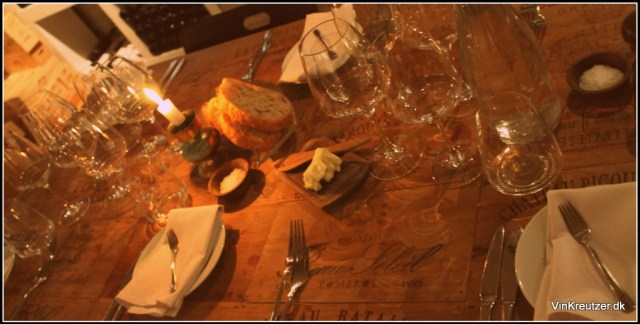 En del af bordet hos Otto Suenson en torsdag aften...