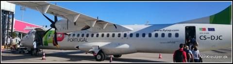 Propelfly fra Lissabon til Porto