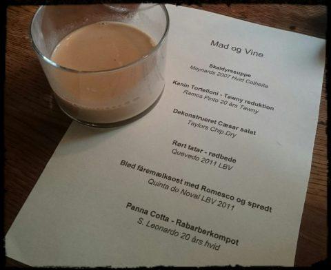Portvinsbaren menu