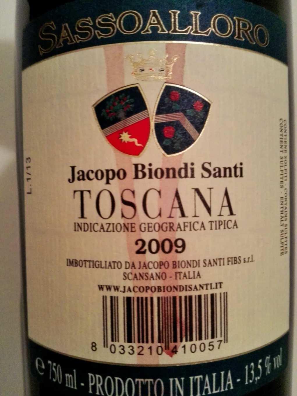 Jacopo Biondi Santi Sassalloro 2009