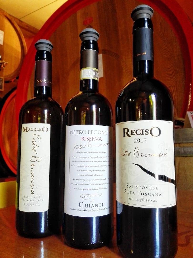 Pietro Beconcini gamma vini