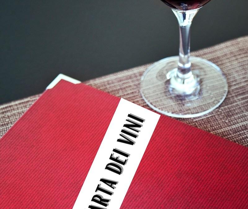 Carta dei vini: guida e consigli per creare la migliore