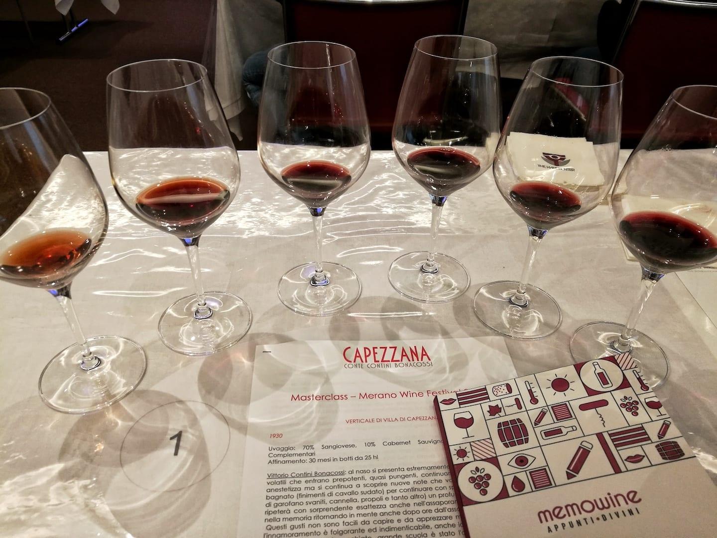 Degustazione Tenuta di Capezzana al Merano Wine Festival