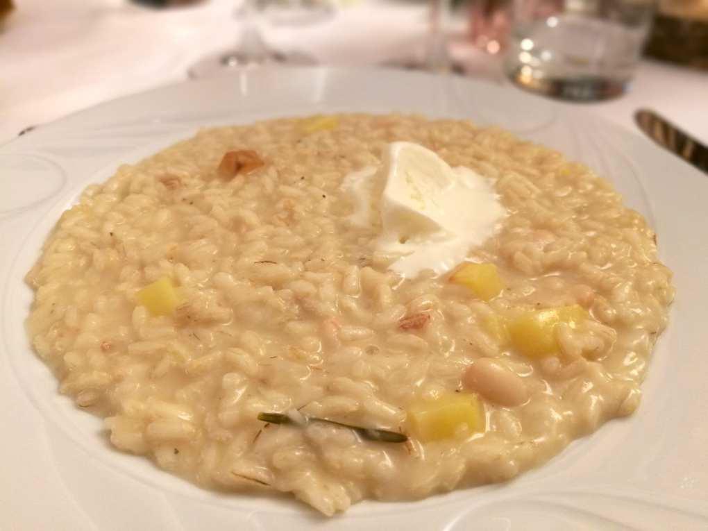 Risotto Gazzani per la cena Stelle & Calici di Ortovero