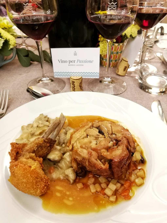 Capretto Vivalda alla cena Vite in Riviera