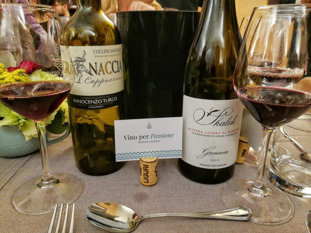 Due versioni di Granaccia alla cena di Vite in Riviera con lo chef Vivalda