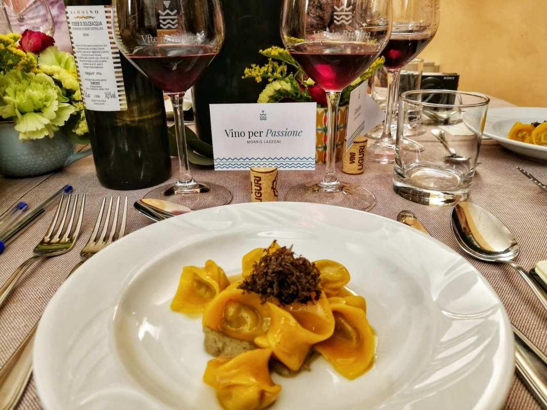Ravioli al plin di Chef Vivalda alla cena di Vite in Riviera