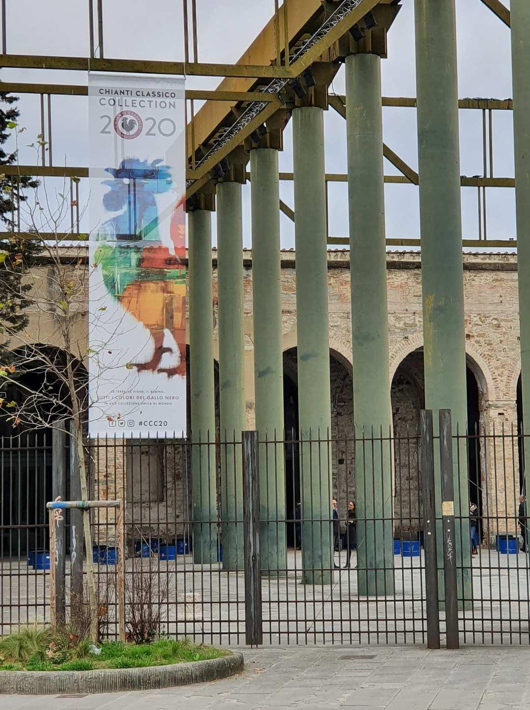 Ingresso della Stazione Leopolda di Firenze per la Chianti Classico Collection 2020