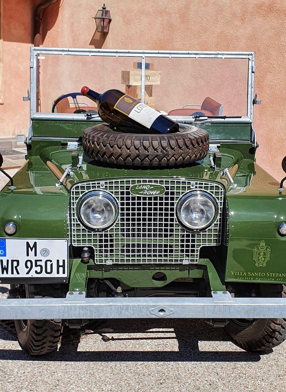 Land Rover della collezione privata a Villa Santo Stefano