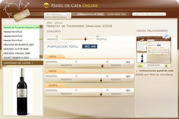 imagen de la cata en el panel de cata online de www.ecatas.com