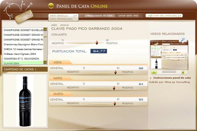 panel de cata en www.ecatas.com