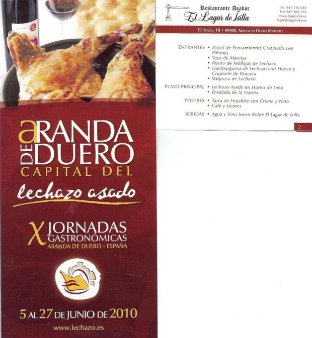 X Jornadas Gastronomicas del lechazo