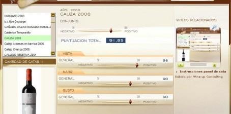 CALIZA 2008 - 91.85 PUNTOS EN WWW.ECATAS.COM POR JOAQUIN PARRA WINE UP