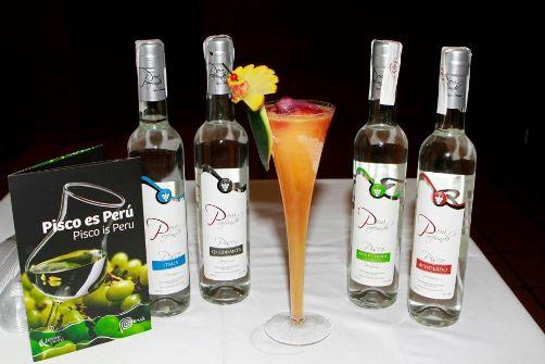 4variedades de Pisco con Coctel Pisco Sour con Mango.
