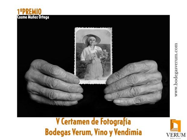 Fotografía ganadora del V Certamen de fotografía Bodegas Verum, vino y Vendimia. Autor: Cosme Muñoz Ortega (Yecla)