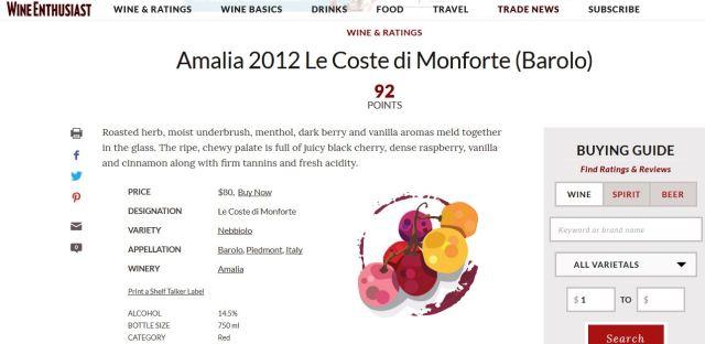 Barolo Le Coste 2012