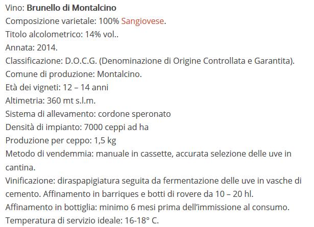 Brunello di Montalcino 2014