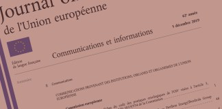 Official Journal of the European Union, C 409, 5 December 2019