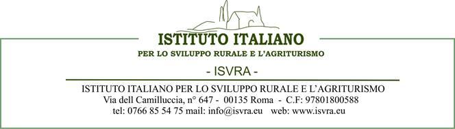 ISVRA Istituto Italiano per lo Sviluppo Rurale e per l'Agriturismo