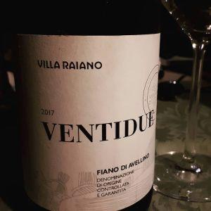 Fiano di Avellino Ventidue 2017 Villa Raiano