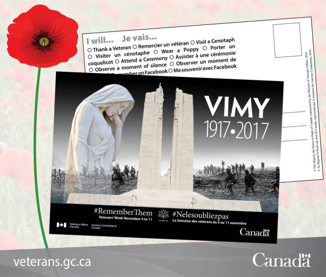 Postcards for Peace to Canada's Veterans
