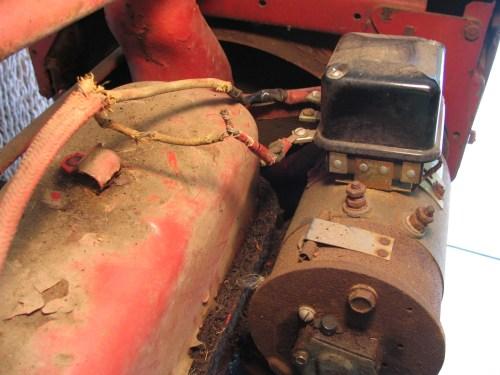 small resolution of original regulator wiring rewired regulator