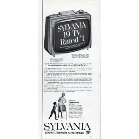1962 Sylvania TV Vintage Ad