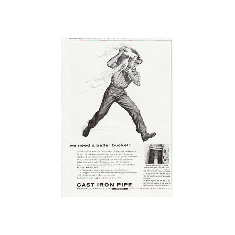 1957 Cast Iron Pipe Vintage Ad