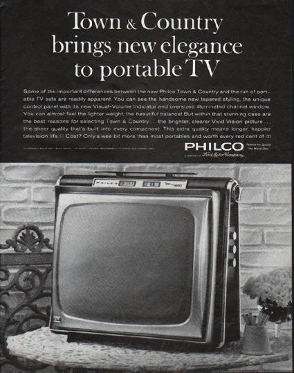 1963 Philco Television Vintage Ad Town  Country