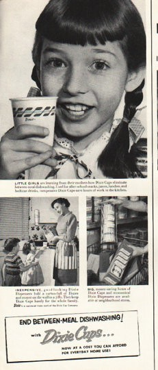 1953 Dixie Cups Vintage Ad Little Girls