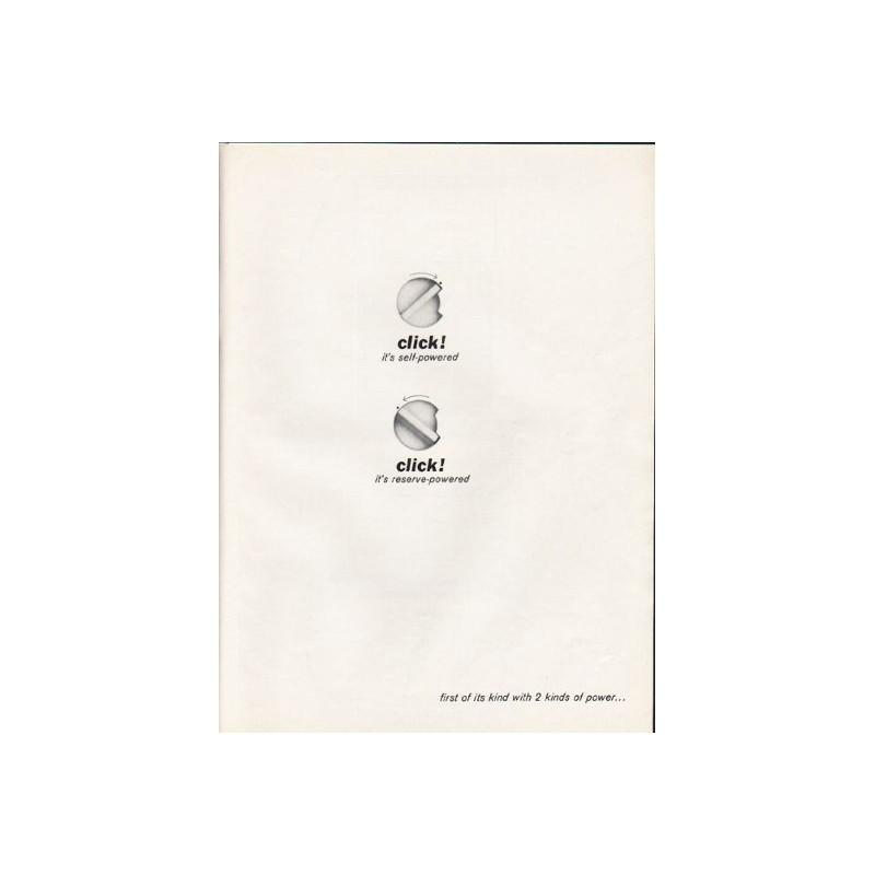 1962 Remington Lektronic II Shaver Vintage Ad