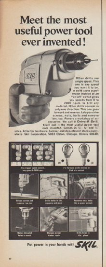 1967 Skil Vintage Ad Meet the most useful power tool ever