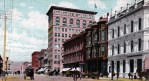 Vintage California postcard of Broadway Street in Oakland