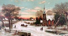 Snowy Christmas Eve Postcard