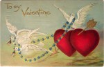 Doves and Hearts Valentine Postcard