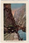 The Hanging Bridge Colorado Vintage Postcard
