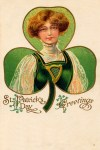 Irish Lass St. Patrick's Day Vintage Postcard