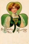Irish Lass St. Patrick's Day Vintage Postcard