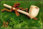 Irish Pipe Vintage Postcard