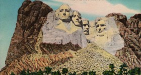 Vintage Postcard of Mount Rushmore National Park
