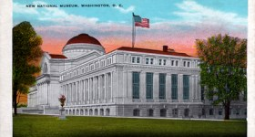 Vintage Postcard of The National Museum in Washington DC