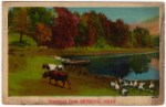 Ohio Country Lake Vintage Postcard