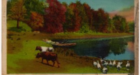 Vintage Postcard of an Ohio Country Lake