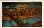 Pittsburgh By Night Vintage Postcard
