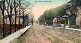 Vintage Postcard of Main Street in Ralston Pennsylvania