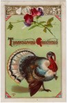 Patriotic Turkey Vintage Postcard