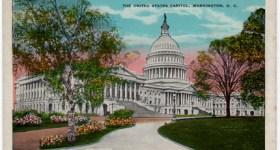 Vintage Postcard of The U.S. Capitol Building in Washington DC