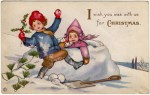 Christmas Wish Vintage Postcard