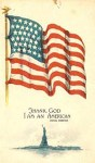 American Flag Grateful Patriotic Postcard